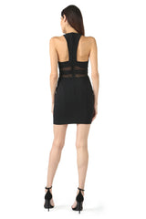 Jay Godfrey Black Scoop Neck Mini Dress - Back View