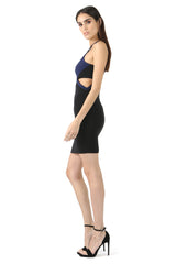 Jay Godfrey Black High-Neck Cut-Out Dress - Side View