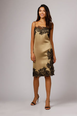 JACOBS LACE SLIP MIDI DRESS