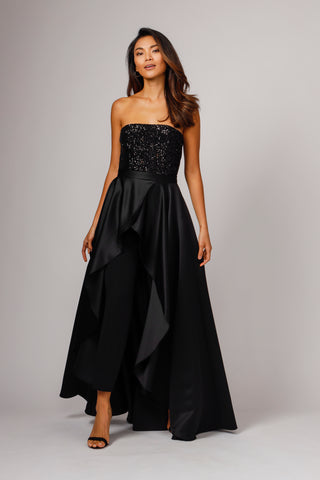 EGAN STRAPLESS JUMPSUIT WITH OVERSKIRT