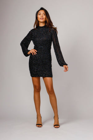 FARRE HAND BEADED MINI DRESS