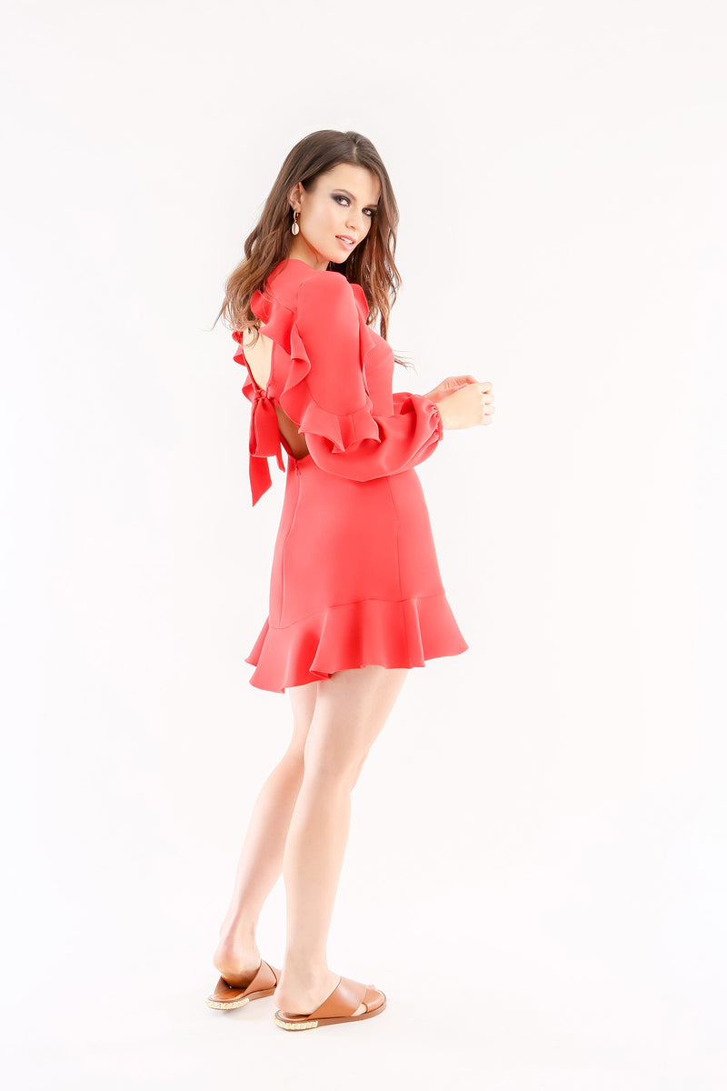 Gerry Mini Dress Fire Red Jay Godfrey