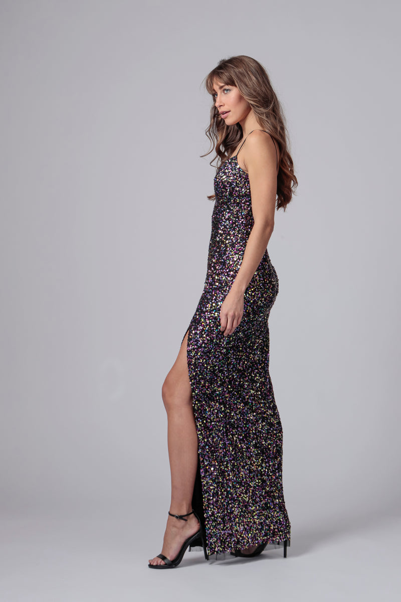 HARRAH SEQUIN SWEETHEART GOWN