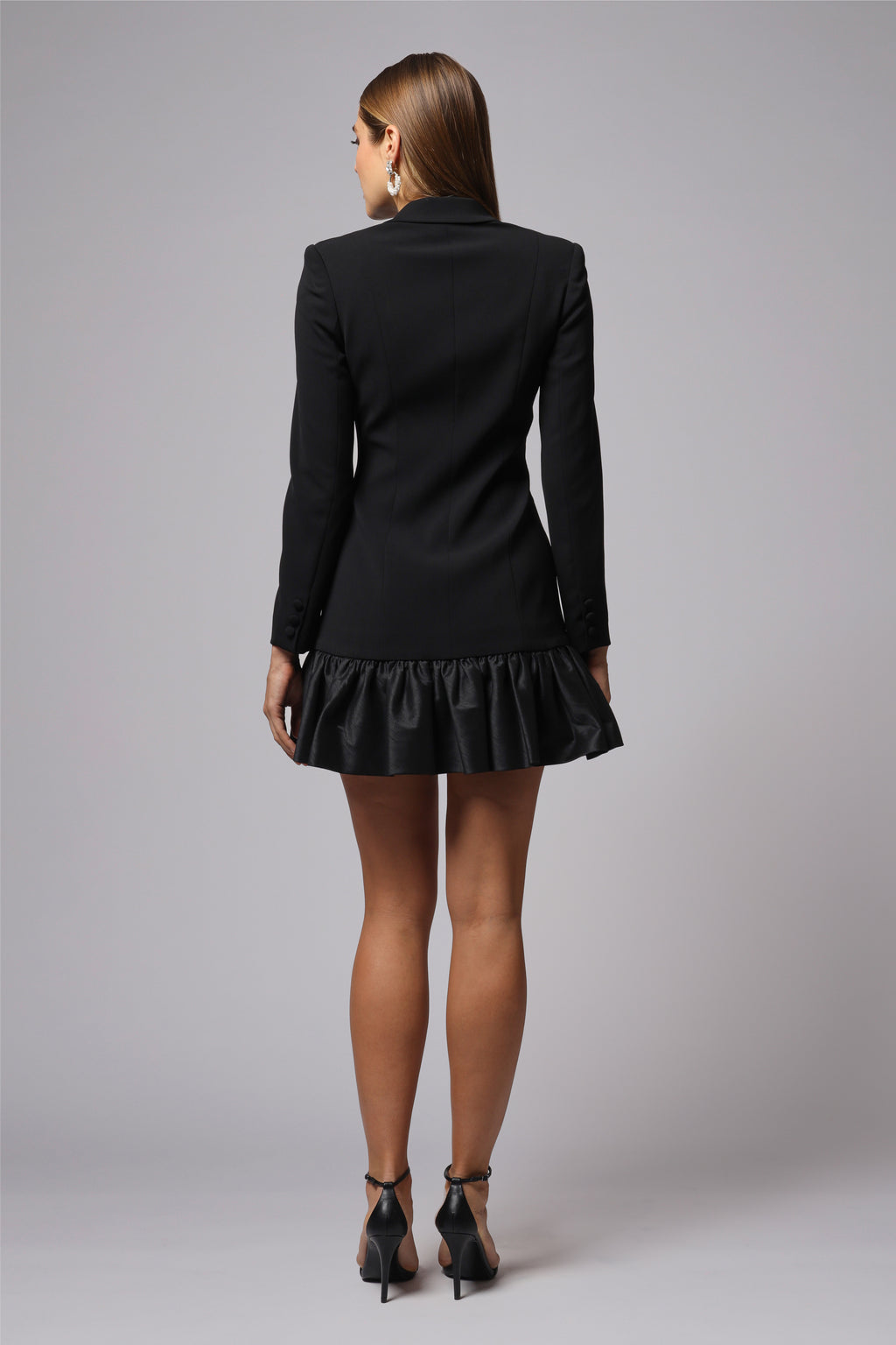 PHOEBE RUFFLED BLAZER MINI DRESS