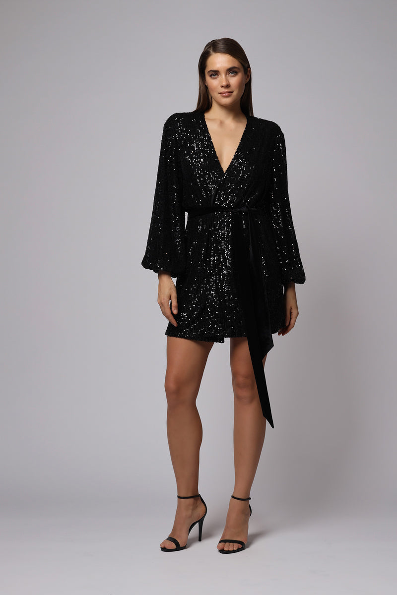 POLLY SEQUIN MINI DRESS