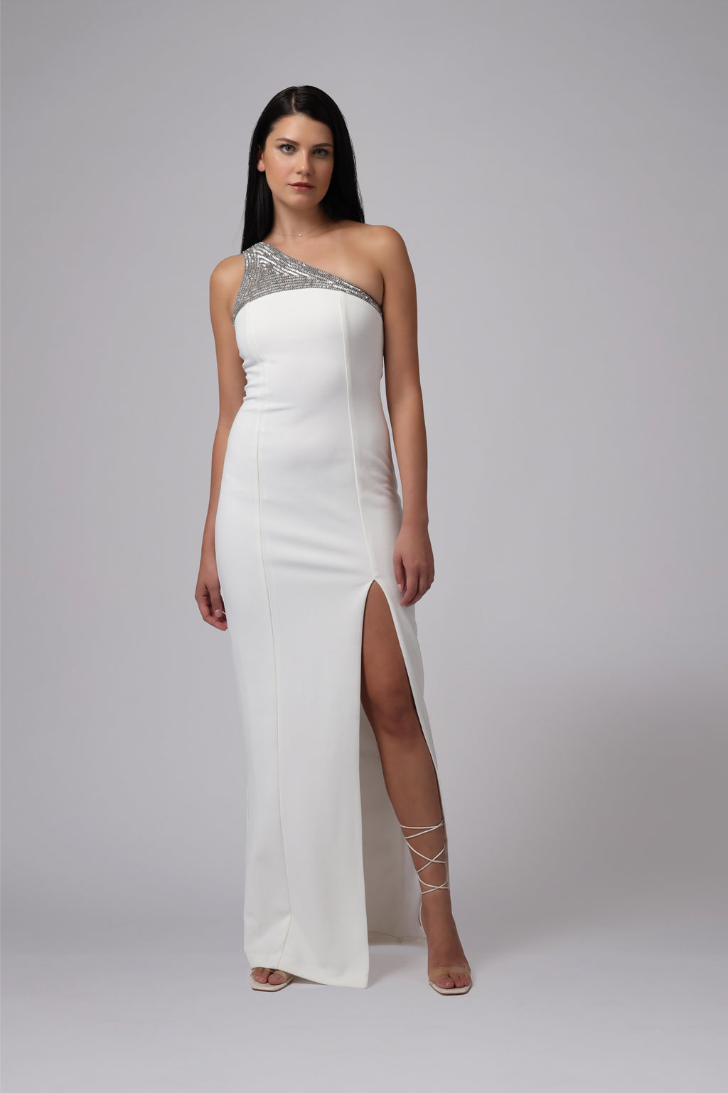 SACRAMENTO ONE SHOULDER GOWN