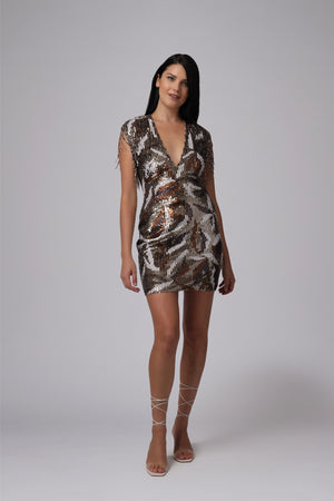 SAN JOSE FRINGE MINI DRESS