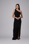 GOLDIE ONE SHOULDER KNOT GOWN