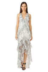 Jay Godfrey White Lace Gown - Front View