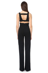 Jay Godfrey Black Cut-Out Jumpsuit - Back View