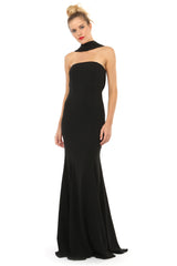 Jay Godfrey Black Strapless Gown - Side View