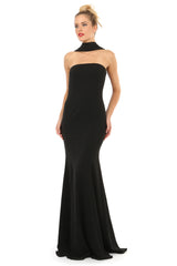 Jay Godfrey Black Strapless Gown - Front View