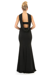 Jay Godfrey Black Strapless Gown - Back View