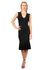 Jay Godfrey Black Body-Con Knit Dress - Front View