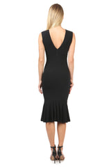 Jay Godfrey Black Body-Con Knit Dress - Back View