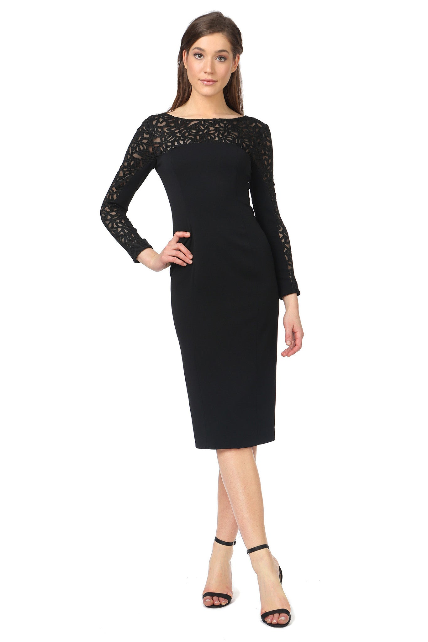 Jay Godfrey Classic Long-Sleeve LBD - Front View