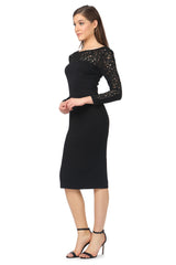 Jay Godfrey Classic Long-Sleeve LBD - Side View