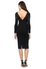 Jay Godfrey Classic Long-Sleeve LBD - Back View