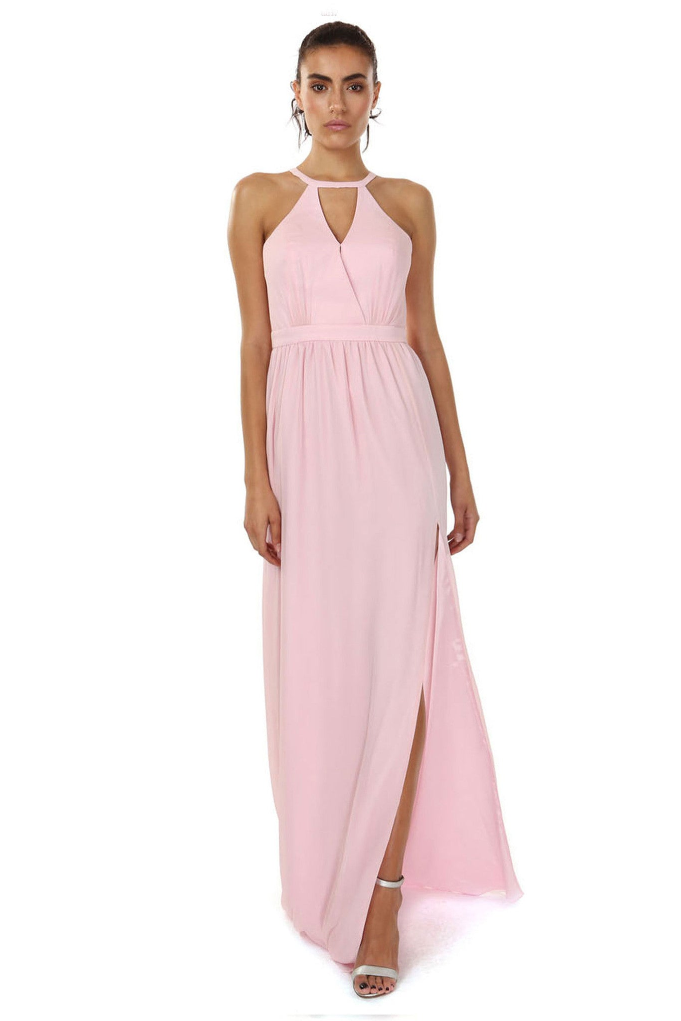Jay Godfrey Soft Pink Grecian Gown - Front View
