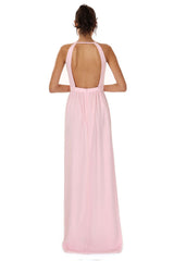 Jay Godfrey Soft Pink Grecian Gown - Back View