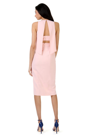 CHARLES ROSETTE HIGH SLIT MIDI DRESS