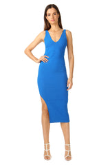 Jay Godfrey Bright Blue Body-Con Dress - Front View