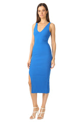 Jay Godfrey Bright Blue Body-Con Dress - Side View