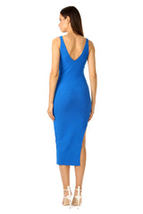Jay Godfrey Bright Blue Body-Con Dress - Back View