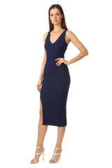 Jay Godfrey Navy Body-Con Dress - Side View