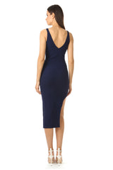 Jay Godfrey Navy Body-Con Dress - Back View