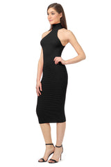 Jay Godfrey Black Body-Con Dress - Side View