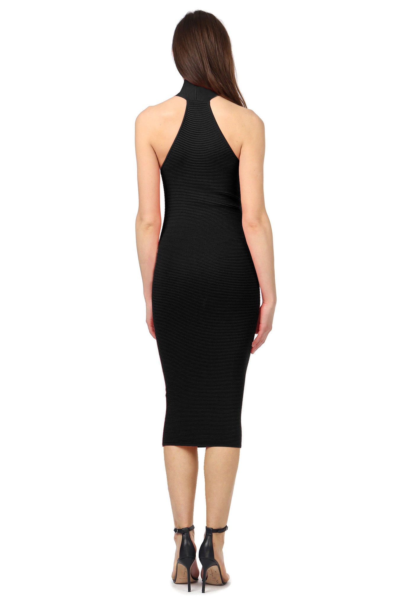 Jay Godfrey Black Body-Con Dress - Back View