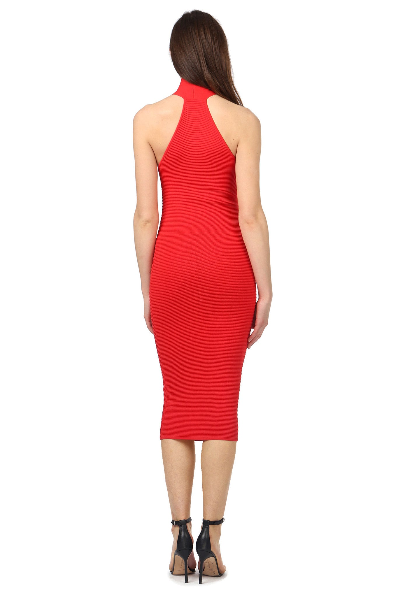 Jay Godfrey Red Body-Con Dress - Back View