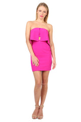 Jay Godfrey Fuschia Strapless Dress - Front View
