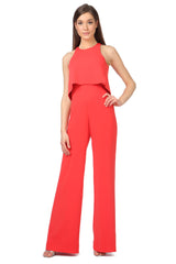 Jay Godfrey Classic Red Jumpsuit - Front View