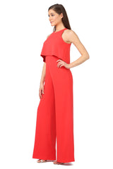 Jay Godfrey Classic Red Jumpsuit - Side View