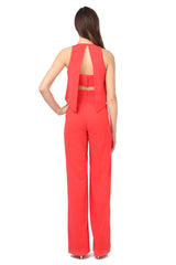 Jay Godfrey Classic Red Jumpsuit - Back View
