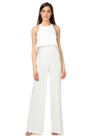 LEWIS LIGHT IVORY OPEN BACK JUMPSUIT