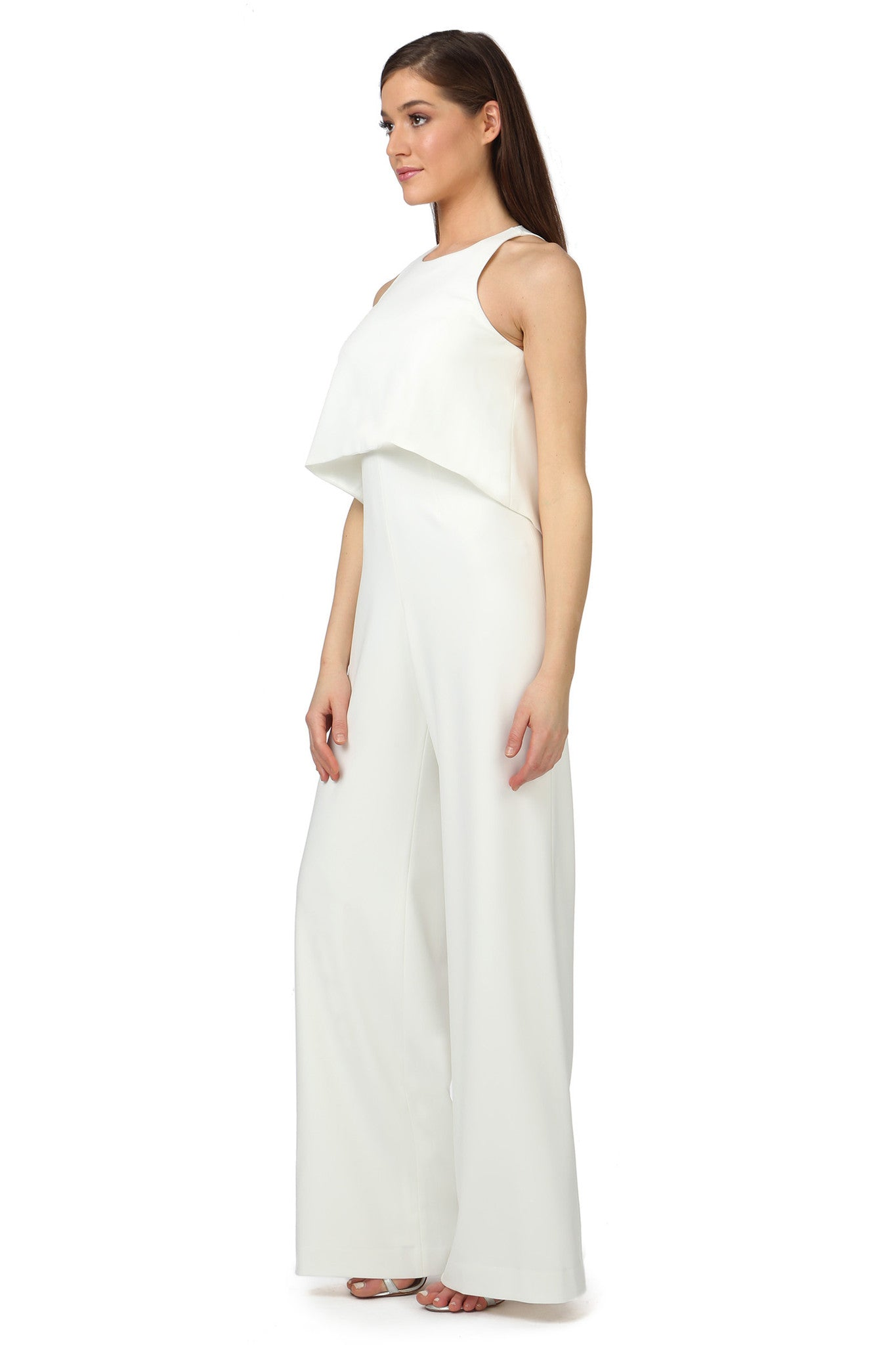 Jay Godfrey Classic Ivory Jumpsuit - Side View