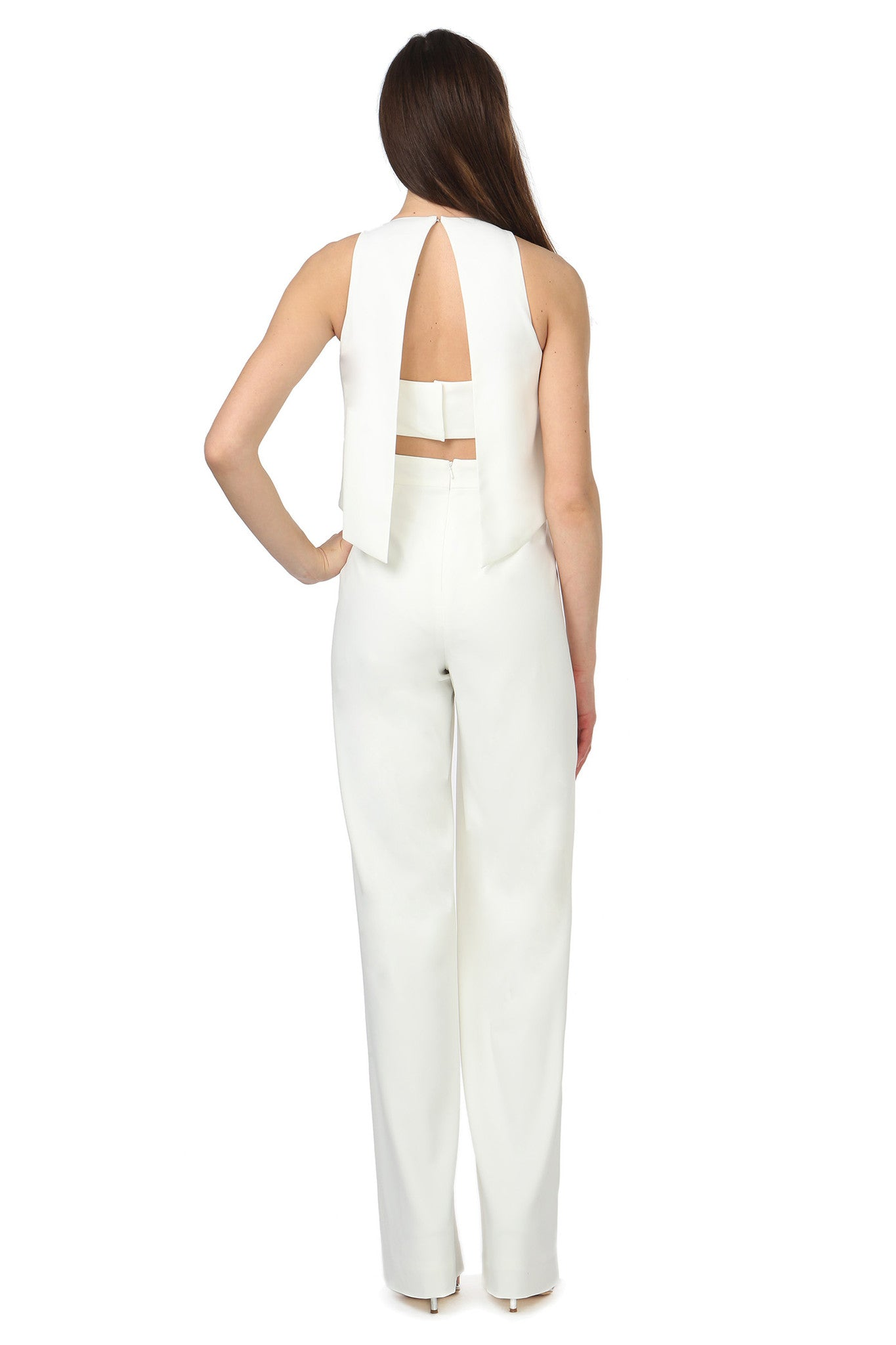 Jay Godfrey Classic Ivory Jumpsuit - Back View