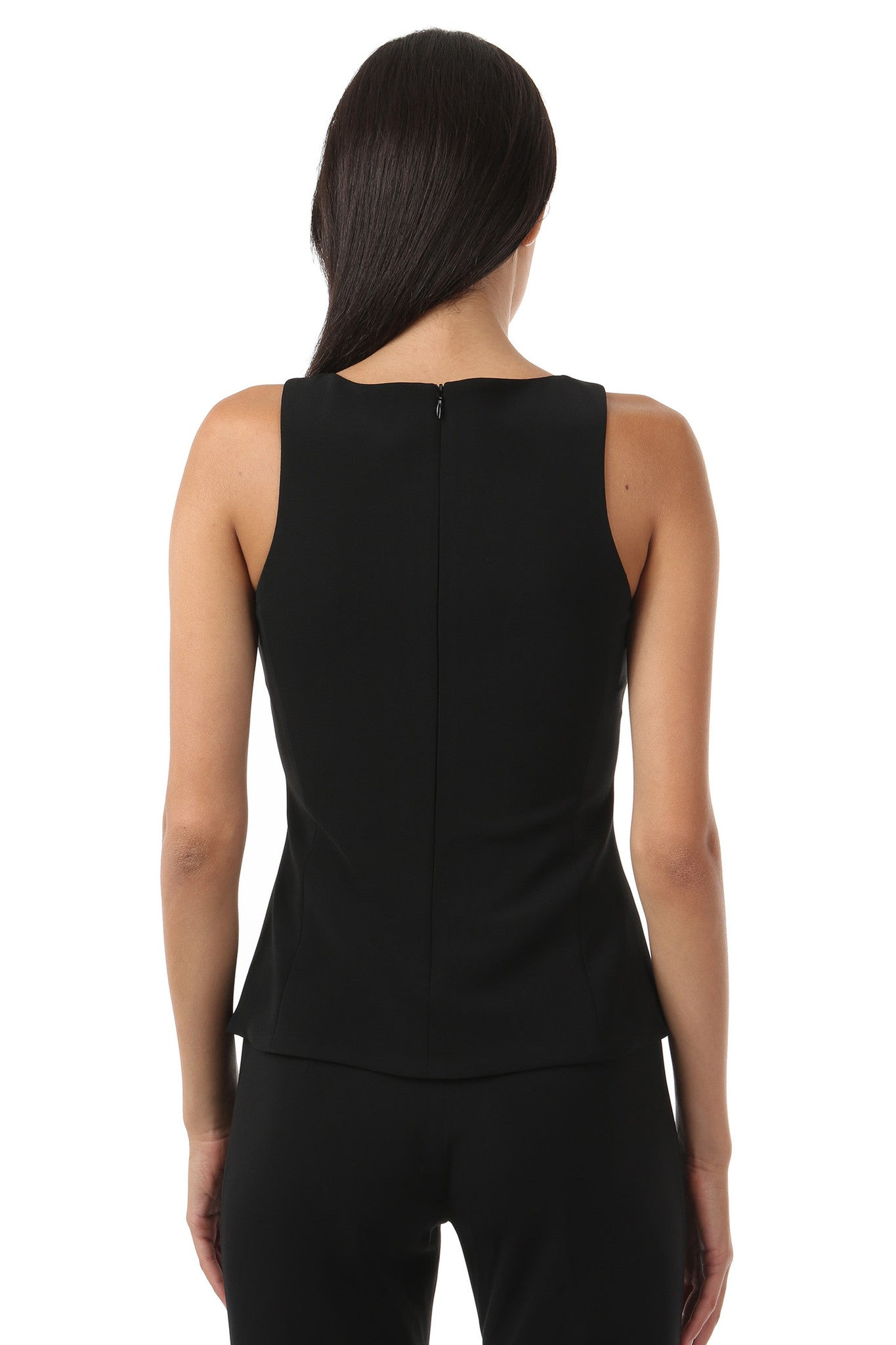 Jay Godfrey Black Peplum Top - Front View