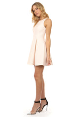 Jay Godfrey Blush Pink Fit and Flare Dress - Side View