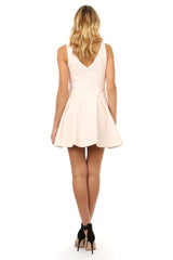 Jay Godfrey Blush Pink Fit and Flare Dress - Back View