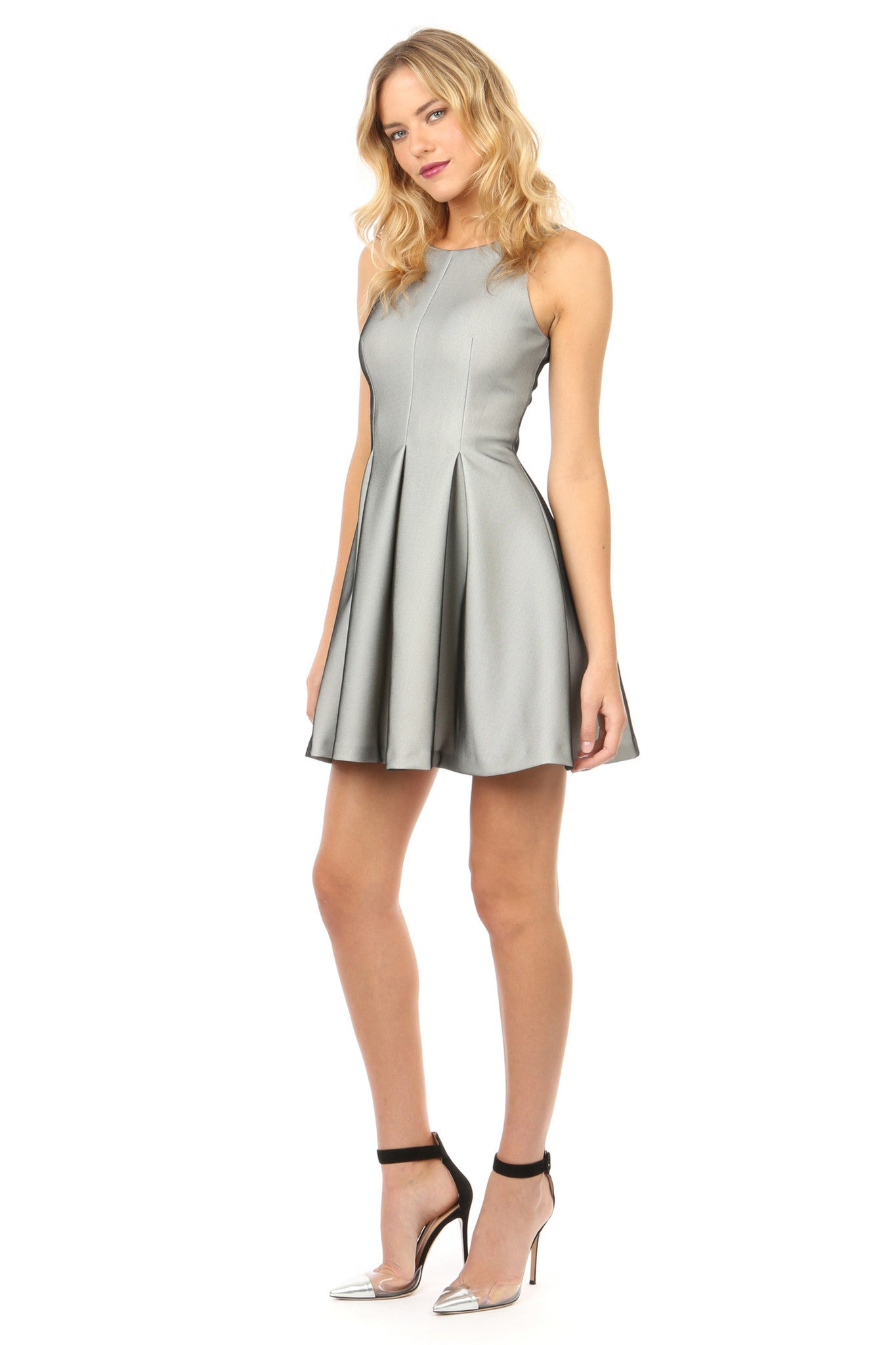 Jay Godfrey Silver  Fit and Flare Dress - Side View