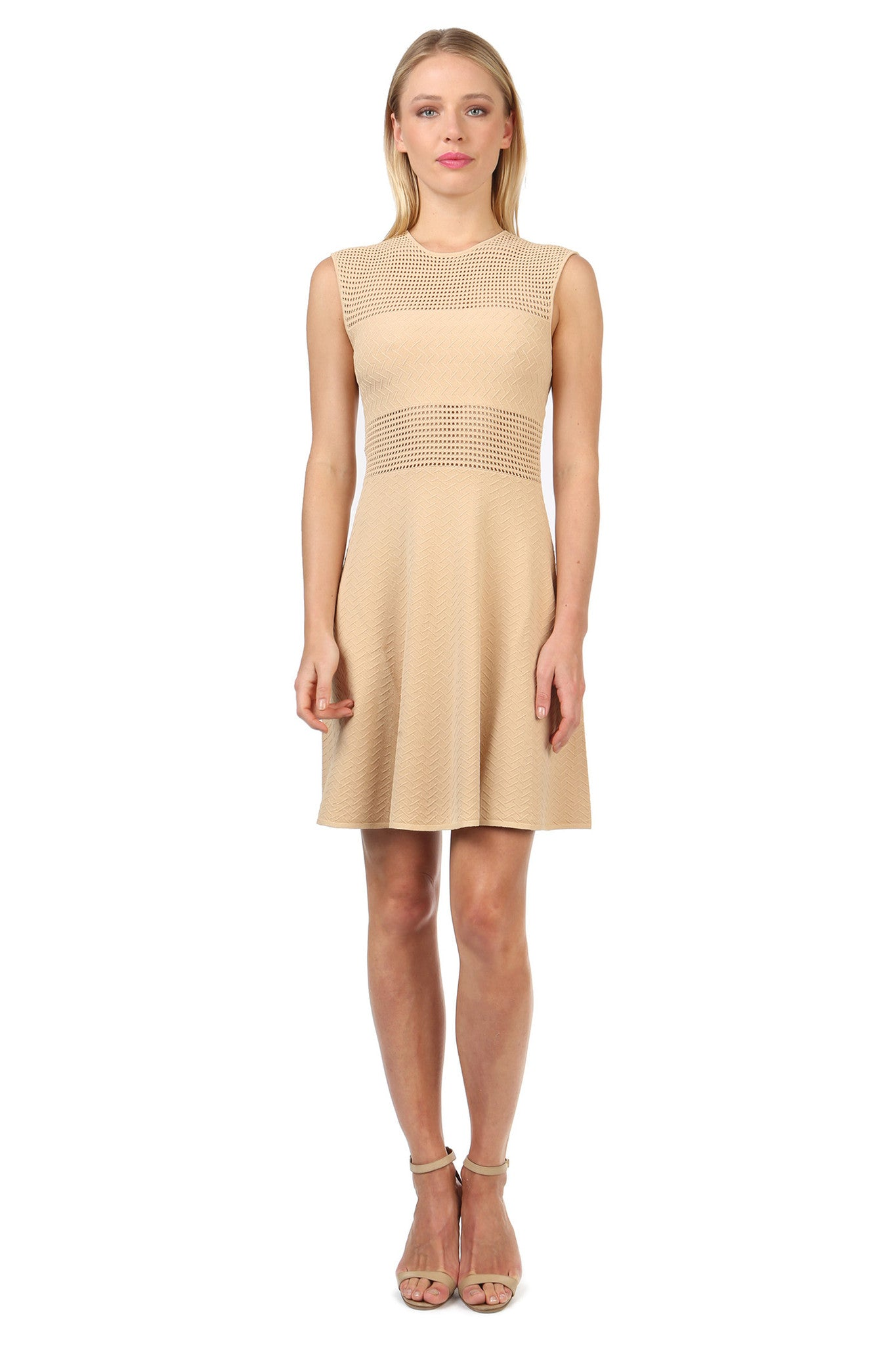 Jay Godfrey Sand Knit Body Con Dress - Front View