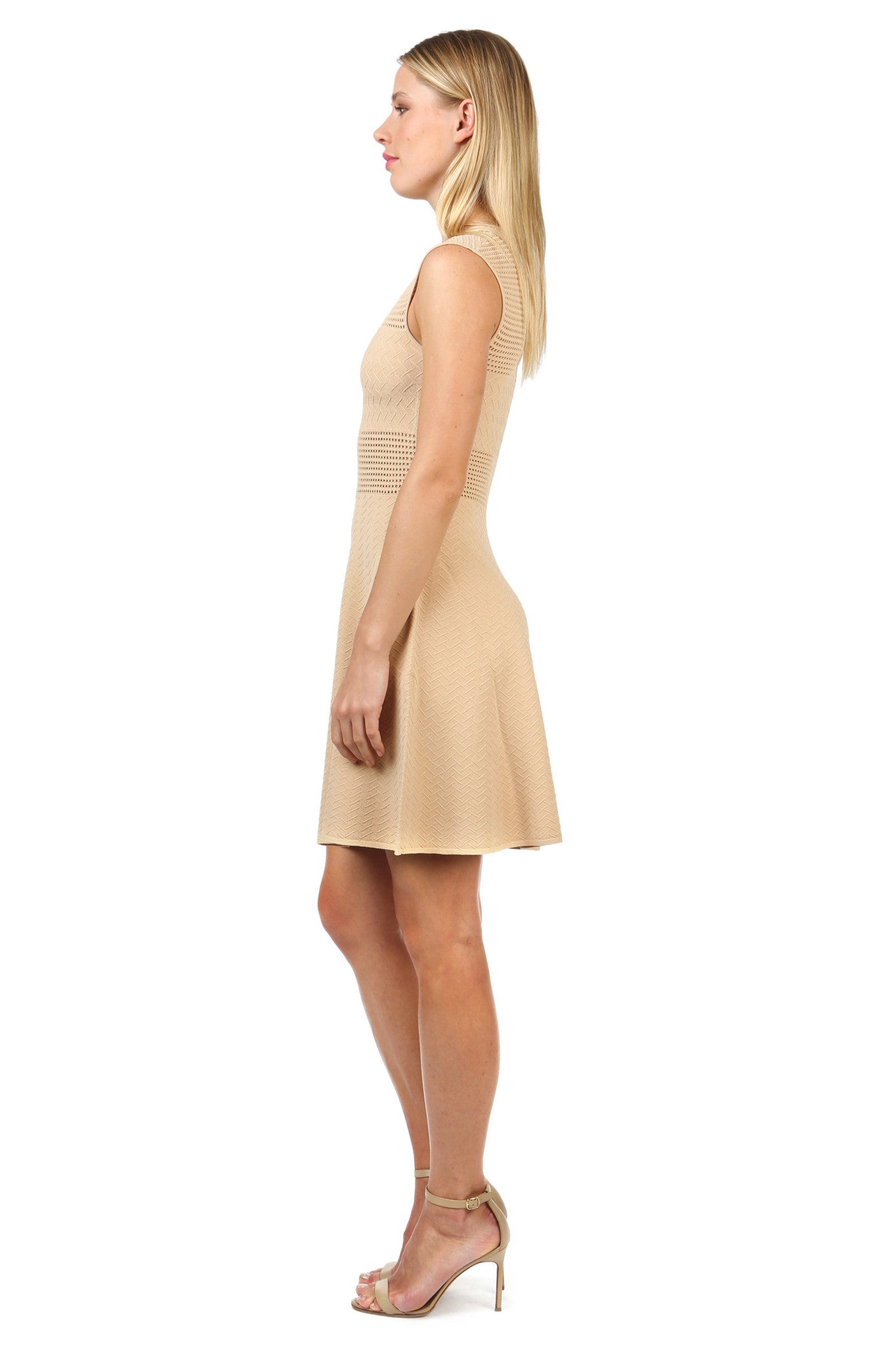 Jay Godfrey Sand Knit Body Con Dress - Side View