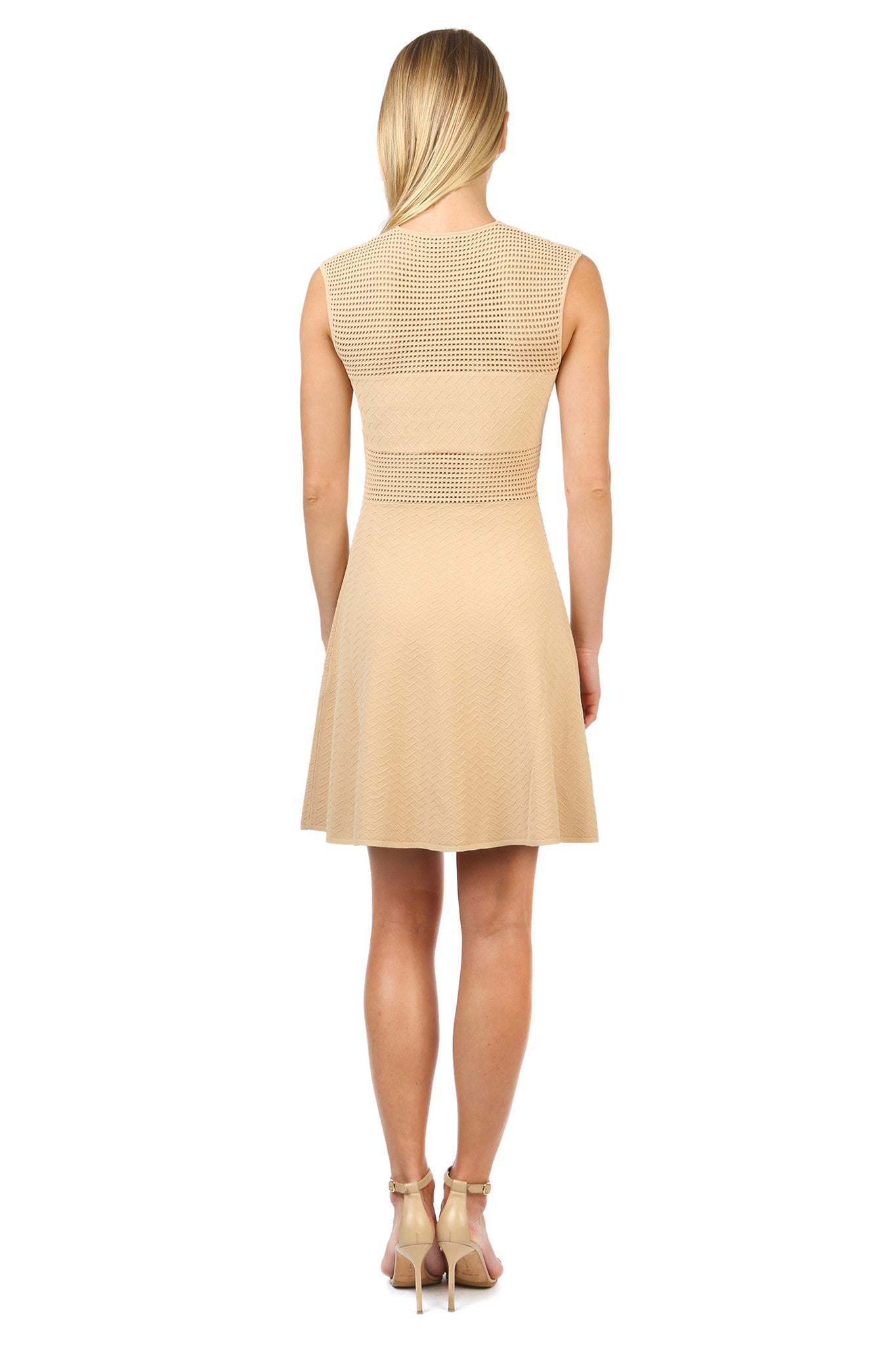 Jay Godfrey Sand Knit Body Con Dress - Back View