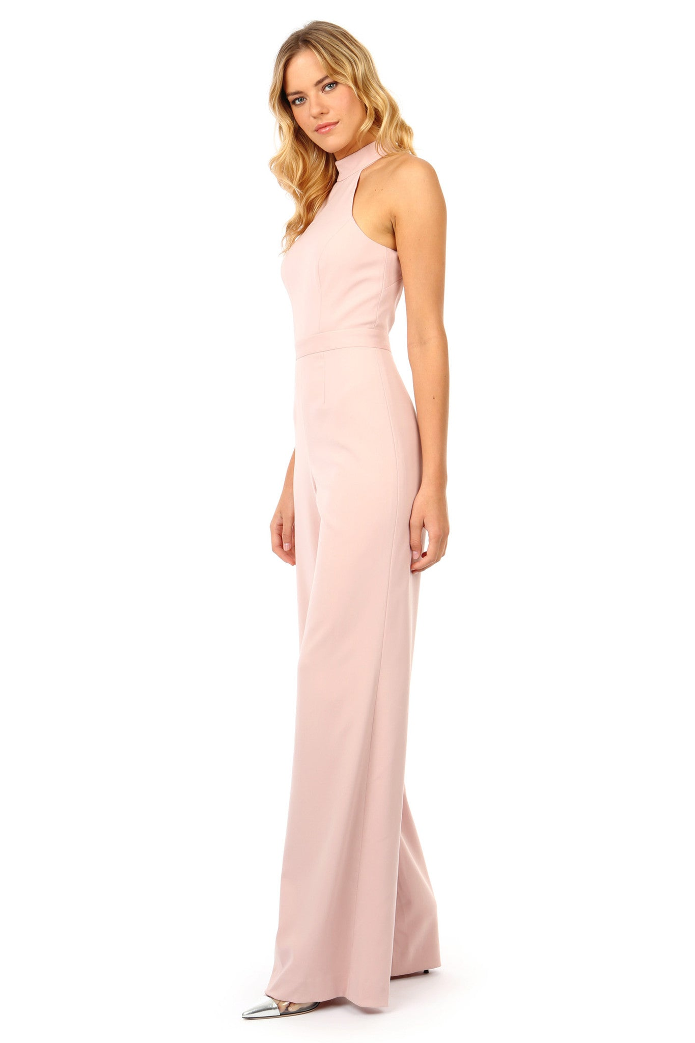 Jay Godfrey Light Pink Halter Neck Jumpsuit - Side View