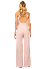Jay Godfrey Light Pink Halter Neck Jumpsuit - Back View