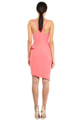 Jay Godfrey Coral Scoop Neck Ruffle Dress - Back View